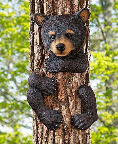 Whimsical Animal Tree Hugger Outdoor Decor Yard Garden Decoration (bear) - Angel Hugger
