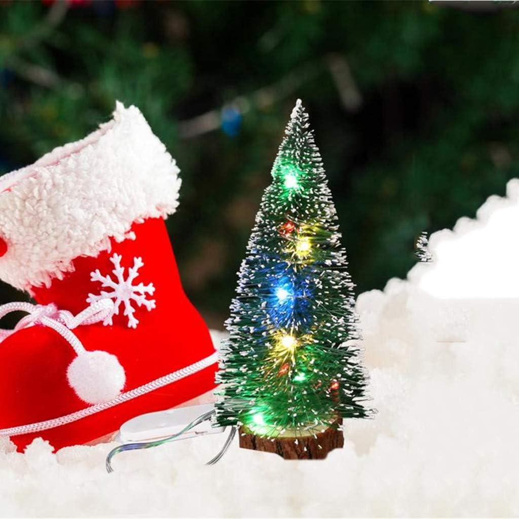 Gr/ün, 15cm FIRSS-Deko K/ünstlicher Weihnachtsbaum LED Lichterkette Tannenbaum DIY Komplett Geschm/ückt Dekoriert Dekoration Wohnaccessoires Mini Weihnachtsdeko Christbaumschmuck 15cm//20cm//25cm//30cm