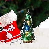 Tabletop Mini Christmas Tree with LED Lights, Artificial Mini Christmas Tree Small Pine Tree Decor Christmas Tree for DIY Hal