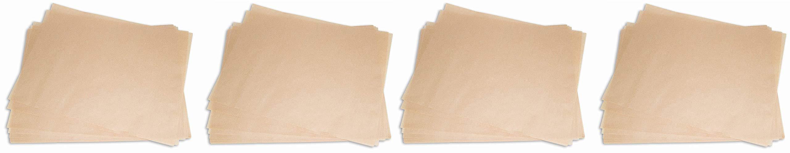 2dayShip Quilon Parchment Paper Baking Liner Sheets, Unbleached Brown, 12 X 16 Inches, 200 Count (Fоur Paсk)