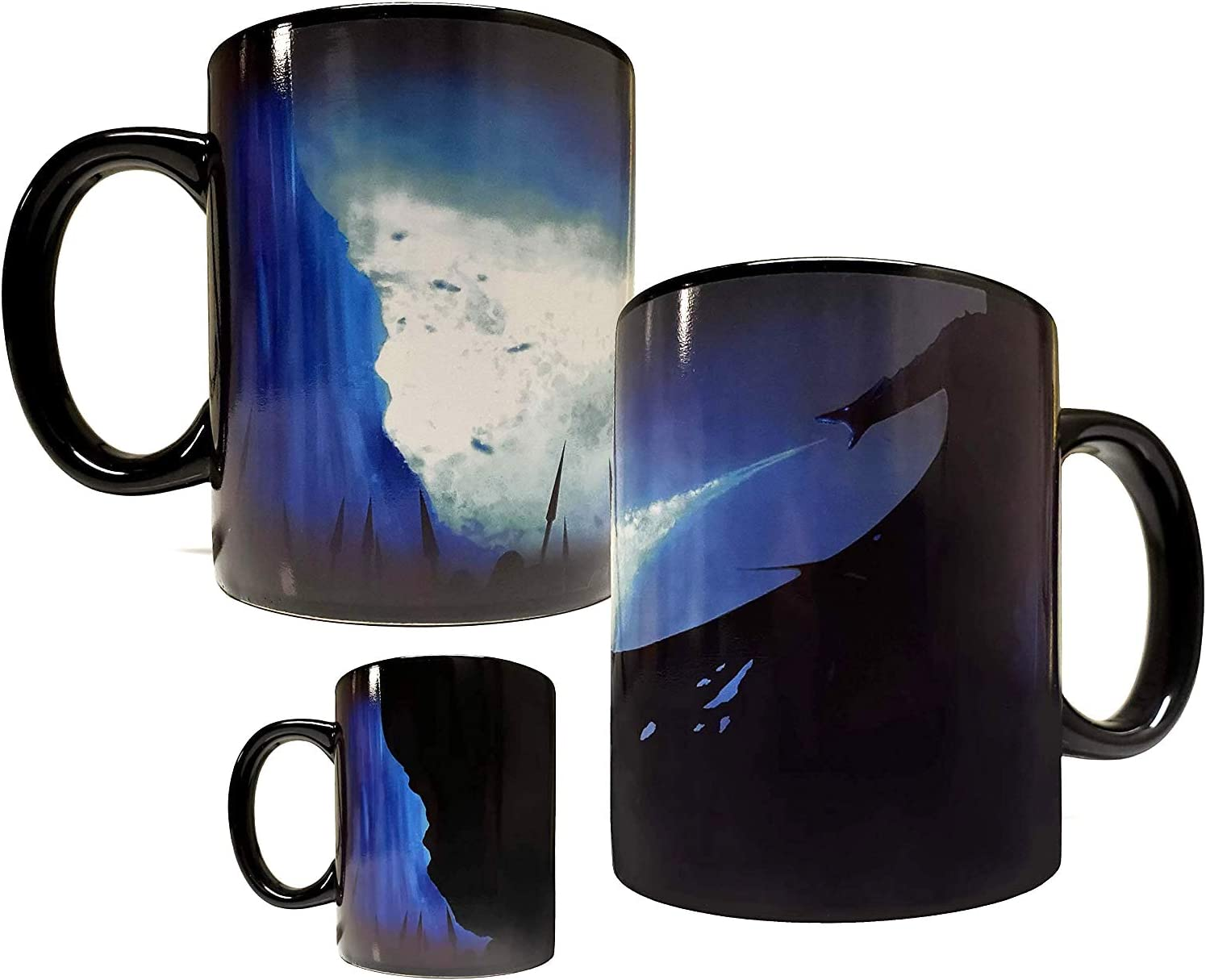 Color Changing Heat Activated ICE DRAGON -BURNING THE WALL - 11oz Ceramic Mug / Cup - Inspired by Game Of Thrones - Foam Box Protection - Grade A Quality (Perfect Gift)