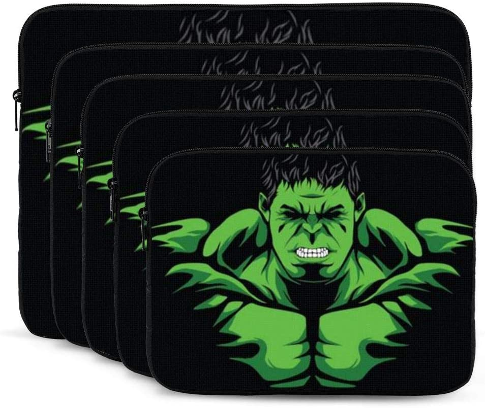 Green Hulk Laptop Sleeve Case Classic Notebook Computer Bag Slim Tablet Briefcase Business Travel Outdoor Black 15 inch