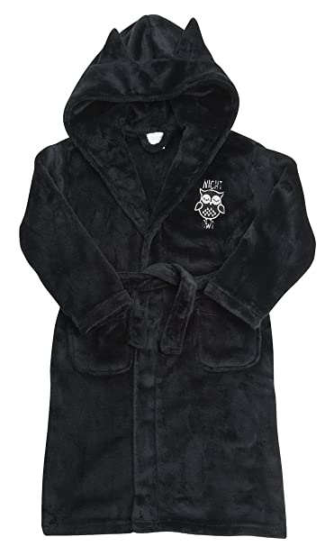 Amazon.com: Girls \'Night Owl\' Soft Fleece Dressing Gown ~ 7-13 Years ...