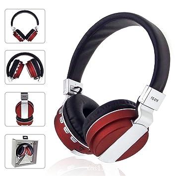 Joyeer Auriculares inalámbricos Bluetooth Gaming Música Auriculares Estéreo Heavy Bass Auriculares Soporte FM Radio Card con