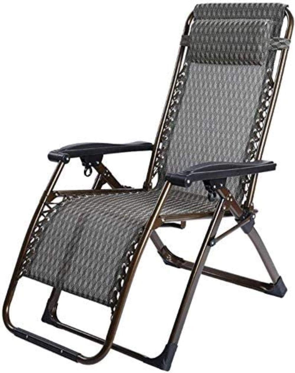 Silla Sillones reclinables Tumbona, sillones, Plegables Gravedad Tumbona reclinable Mecedora del jardín Cama reclinable Brazos Plegables xiuyun (Color : Wave, Size : 72 * 68 * 112cm)