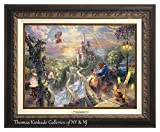 Thomas Kinkade Beauty and the Beast Falling in Love 12'' X 16'' Canvas Classic (Aged Bronze)