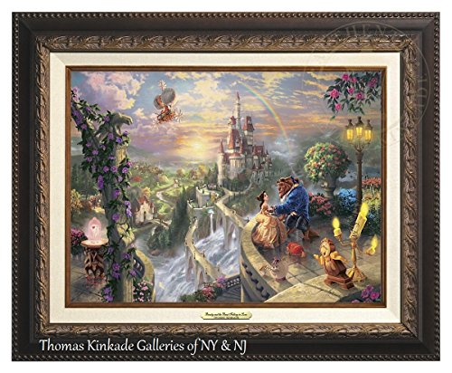 Thomas Kinkade Beauty and the Beast Falling in Love 12'' X 16'' Canvas Classic (Aged Bronze) by Thomas Kinkade