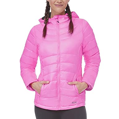 5f764846d055 Fila Women's Channel Puffer Jacket - Pink - XS: Amazon.co.uk: Clothing