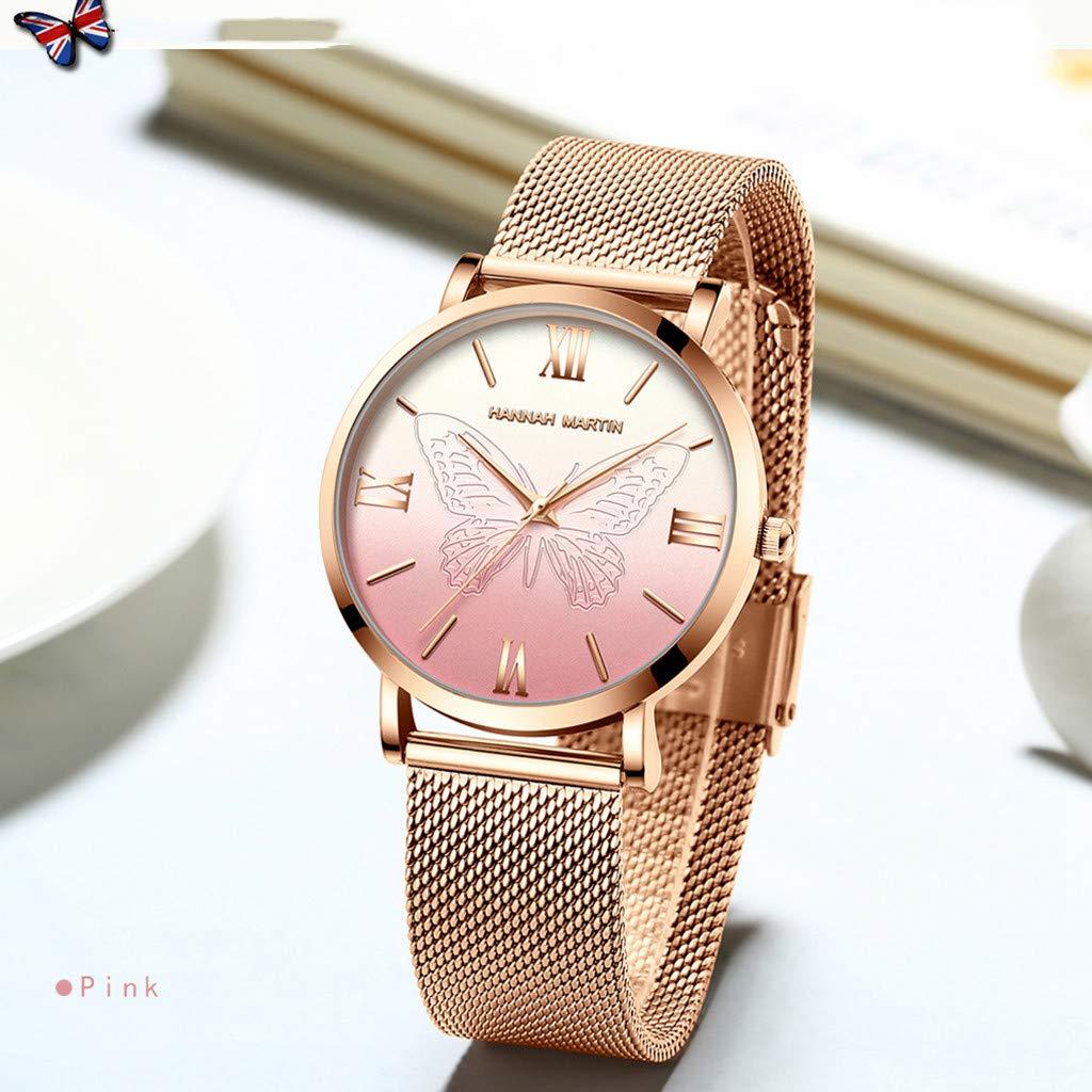 Cebbay - Reloj de Cuero para Mujer Medidor de Dial de ...