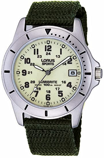 Analog Nylon Quarz Herren Uhr Rxh005l9 Armband Lorus Mit doEQerBWCx