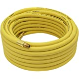 """Goodyear 50' x 3/8"""" Rubber Air Hose Yellow 250 Psi"""