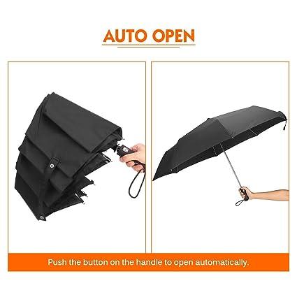 Amazon.com | Modern Automatic Waterproof Travelling Paraguas Folding Windproof Umbrella | Umbrellas