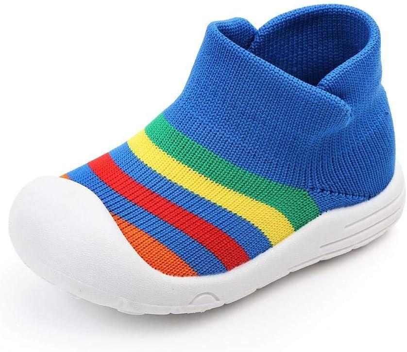 Ridecle Semelle en Caoutchouc Chaussette Maille B/éb/é Chaussures Douce Douce Slip-on Sneakers Non-Slip Pantoufles Int/érieur Chaussures de Marche pour B/éb/é Gar/çon Filles Toddler Infant Enfants Cadeau
