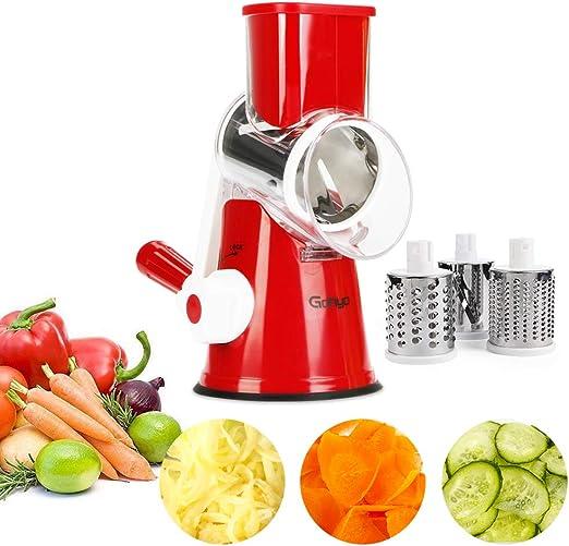 Amazon.com: Cortador manual de frutas y verduras con 3 ...
