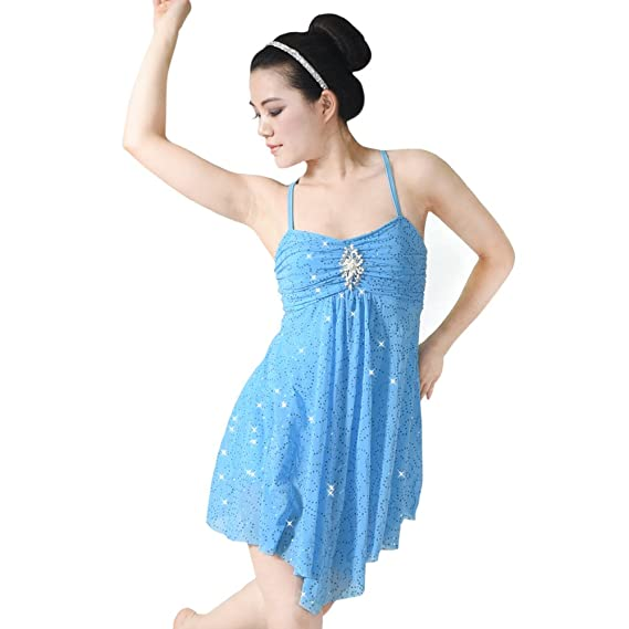 67ec5df43 MiDee Lyrical Dress Dance Costume Full Sequins Camisole: Amazon.co ...
