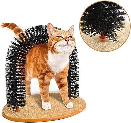 Arco de gato masajeador de peluche, juguete para perro, cepillos ...