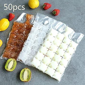 50 bolsas desechables para hacer hielo, bandeja para cubitos de hielo hace vasos de chupito