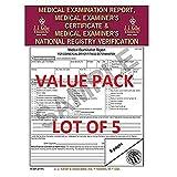LOT OF 5 JJ KELLER 15-MP (6147) Medical Exam Report, Certificate, & National Registry Verification