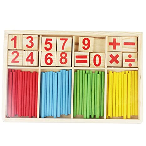 Children/'s Baby Learning Game Stick Bar Counting Rod Math Arithmetic LIN