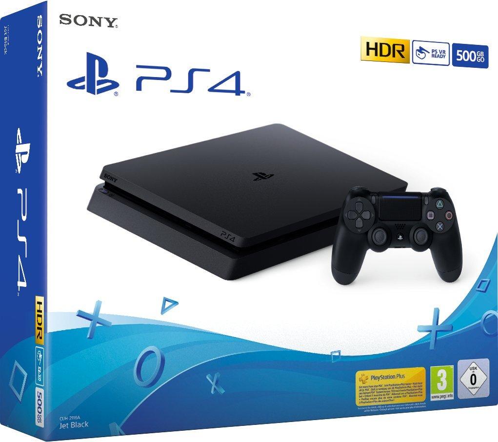 PlayStation 4 Slim - Konsole (500GB, schwarz)