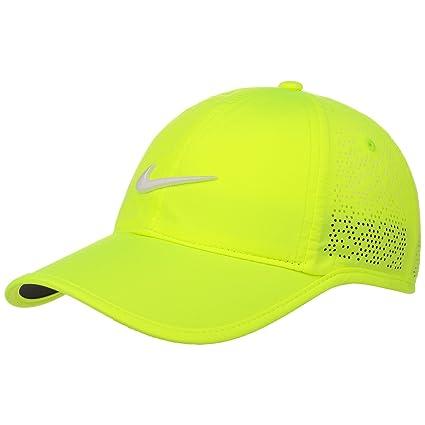 Nike Perf Cap Gorra, Mujer, Amarillo (Volt/White), Talla Única