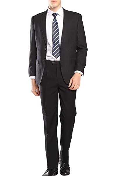 Amazon.com: Mogu traje de 2 piezas de ajuste clásico de ...