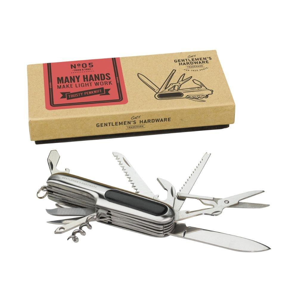 Gentlemen's Hardware GEN003 Pen Knife, Silver Gentleman's Hardware AGEN003