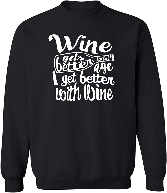 ZeroGravitee Wine Gets Better with Age Crewneck Sweatshirt