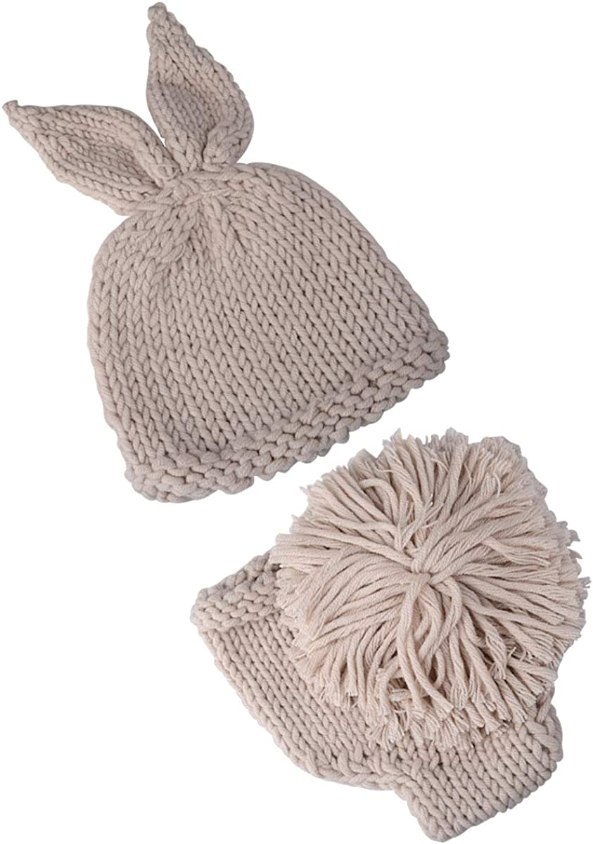 Crochet Newborn Photography Unisex Infant Knit Rabbit Baby Photo Props Suit
