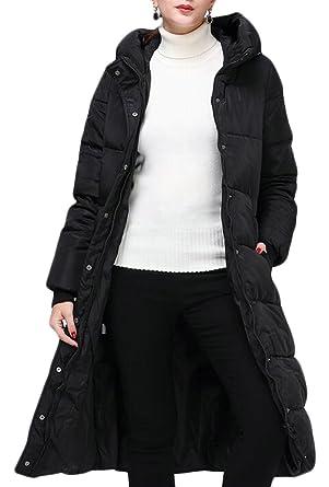24d7cb333c M&S&W Women' Fashion Seamless Down Coat Hooded Puffer Parka Winter Jacket  ...
