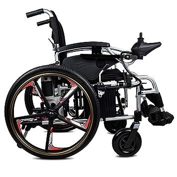 Silla de ruedas eléctrica ligera de doble función plegable ...