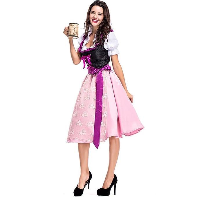 Amazon.com: Vestido de mujer alemán Dirndl Oktoberfest para ...