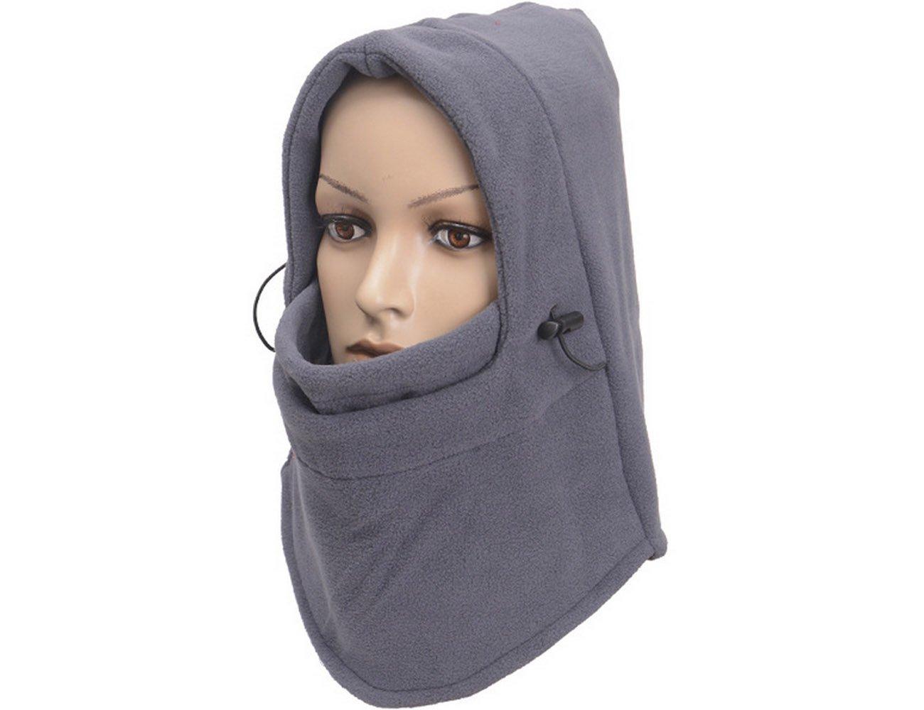 ForNeat Ski Mask spessa maschera di protezione del motociclo scaldacollo o tattico Balaclava Hood Vello Maschera (Maschera viso Nero)