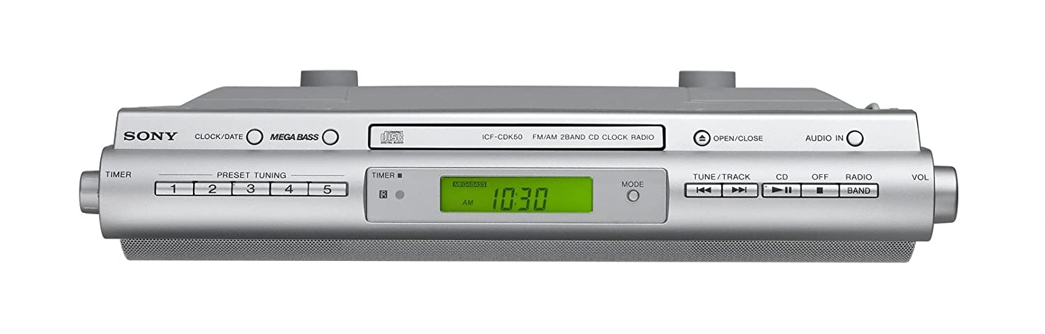Amazon.com: Sony ICFCDK50 Under Cabinet Kitchen CD Clock Radio: Home Audio  U0026 Theater
