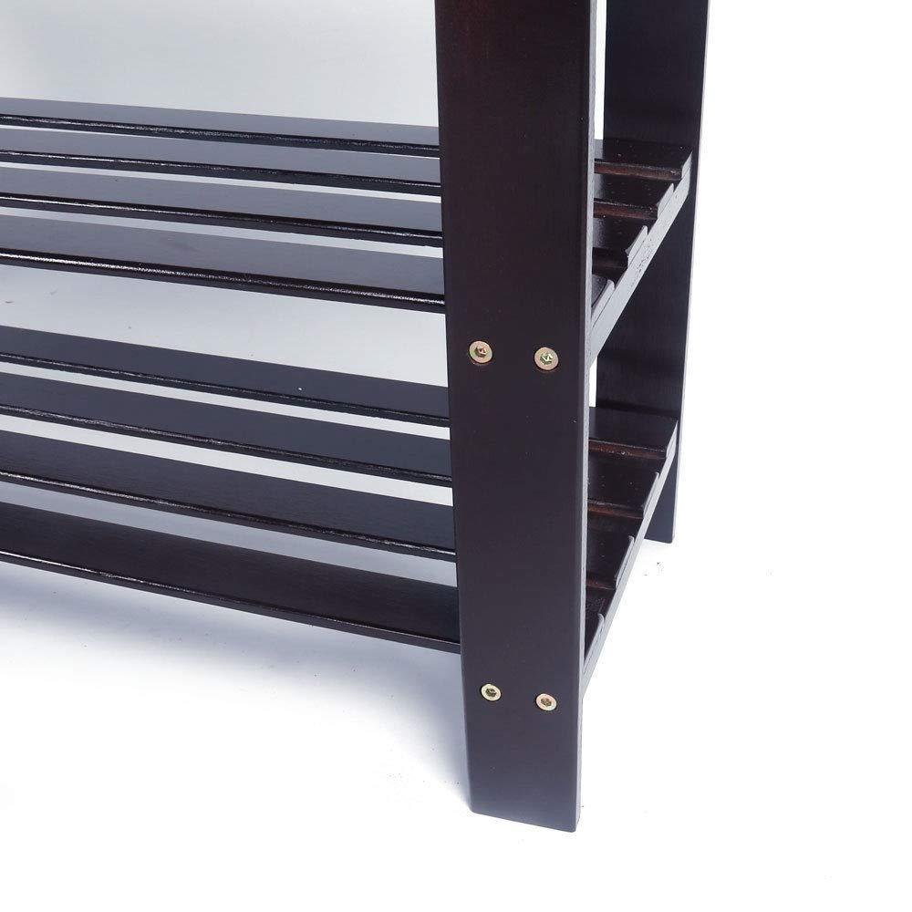 Big eyed cat 1PCS Modern Shoe Bench Entryway Storage Bamboo Shelf Rack Hallway Furniture