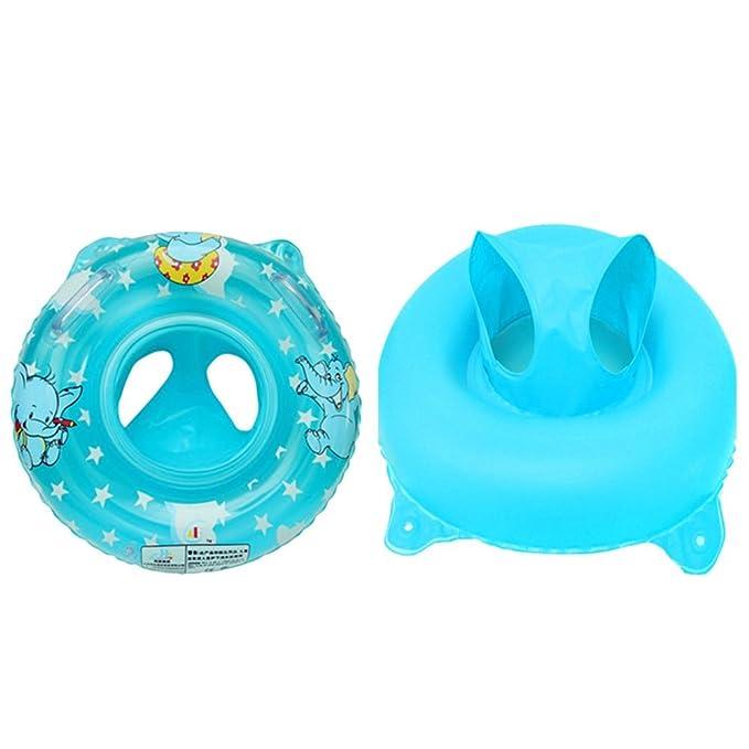 Flotador de Natación para Bebés, Gosear Inflable Anillo de Seguridad del Asiento Inflable de Piscina Niños Nadar Anillo para Bebé (Color Rosado): Amazon.es: ...