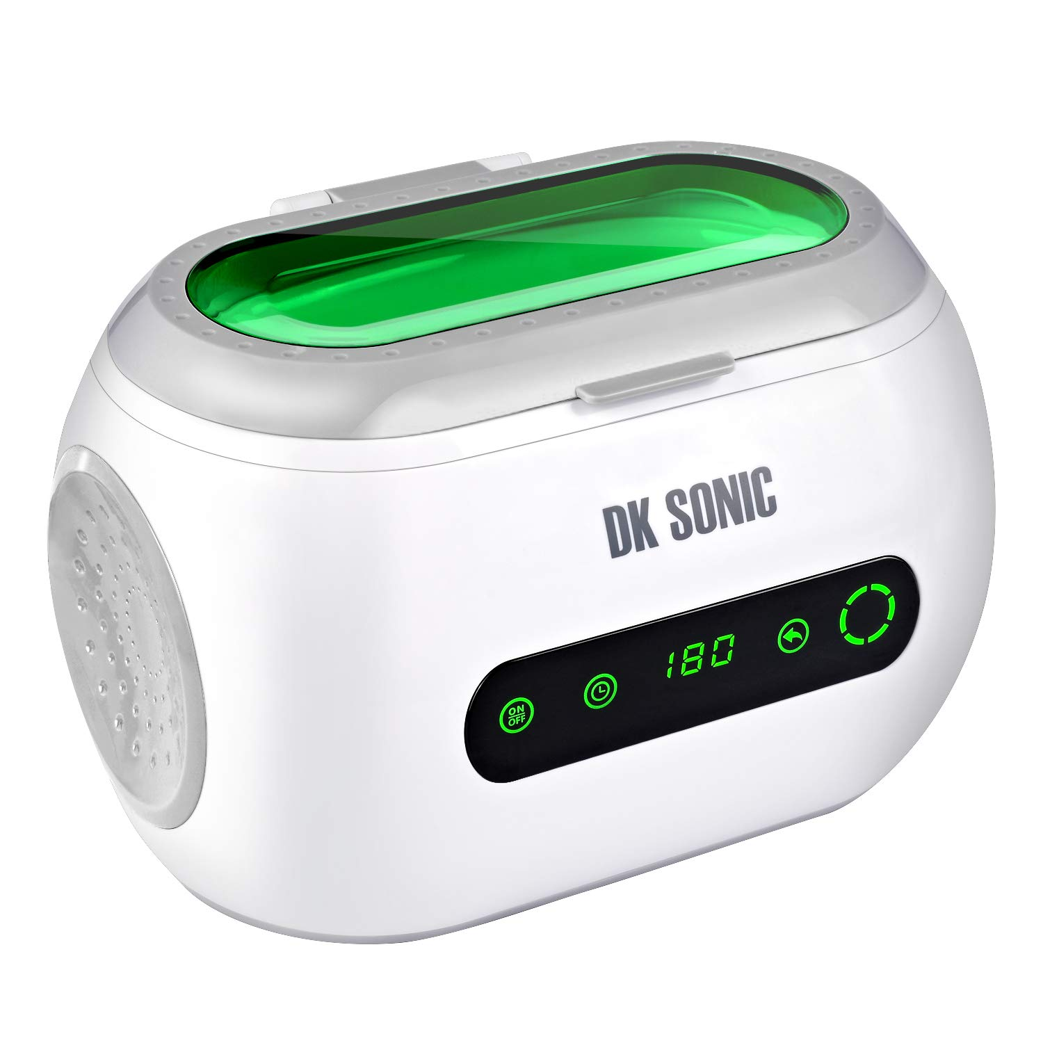 Mini Ultrasonic Cleaner - DK SONIC 600mL 42KHz Sonic Cleaner with Digital Timer and Basket for Jewelry,Ring,Eyeglasses,Denture,Watchband,Coins,Small Metal Parts,Daily Necessaries,Tattoo Equipment,etc by DK SONIC