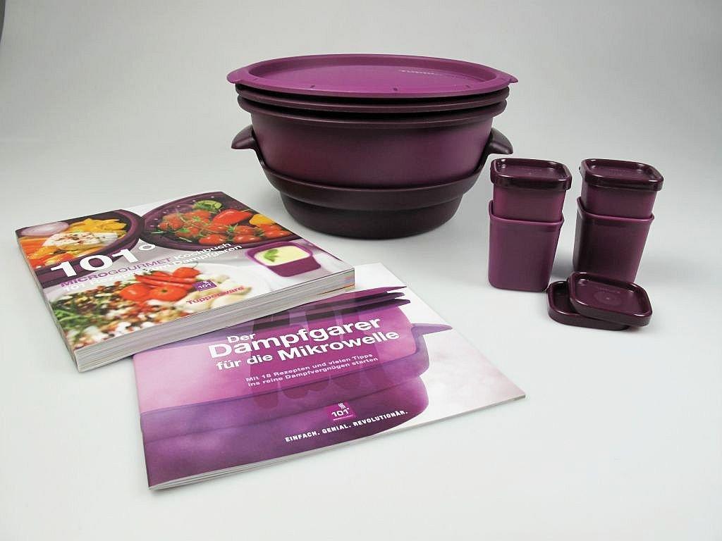 Tupperware Microondas Micro Gourmet Lila + Moldes (4) + Libro de ...