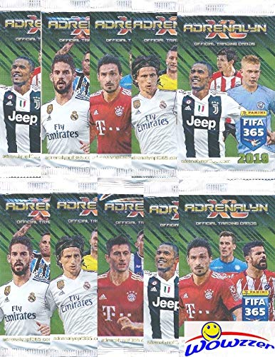 2019 Panini Adrenalyn XL FIFA 365 Lot of TEN(10) Factory Sealed Booster Packs with 60 Cards! Look for Stars including Ronaldo, Lionel Messi, Neymar, Harry Kane & More! Imported from Europe! Wowzzer!