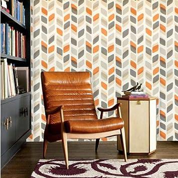 Retro Annees 60 70 Papier Peint Vintage Geometrique Abstrait