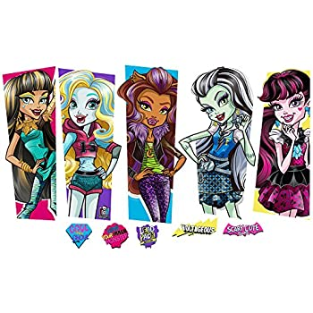 Monster High Large Characters Wall Decal Set 2  sc 1 st  Amazon.com & Amazon.com: Roommates Rmk2190Scs Monster High Peel And Stick Wall ...