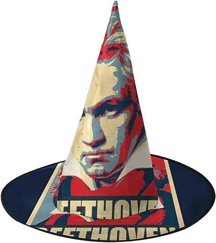 KUKHKU Beethoven Pop Art Sombrero de Bruja Unisex Disfraz para ...