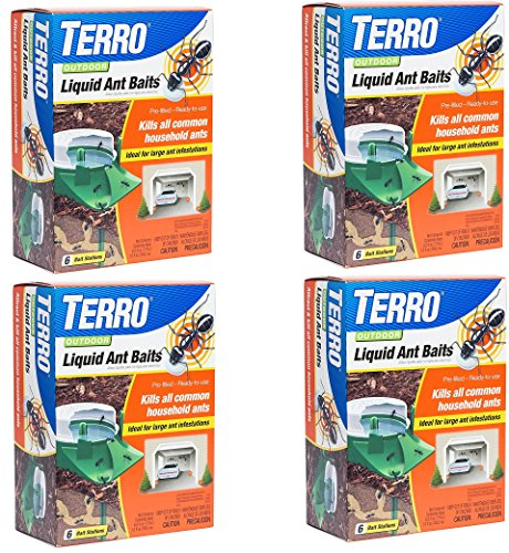 Terro Outdoor Liquid Ant Bait Stations (4 Pack / 6 Bait Stations Per - Bait Ant Stations Liquid