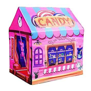 75ee441284 PRNGZGG Tienda Casa Casita Carpa Campaña para Niñas De Tela Lona Popup  Plegable para Jugar Juguete