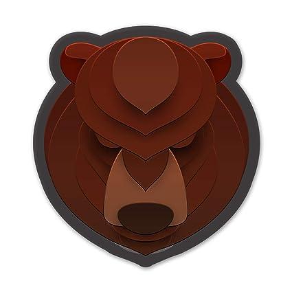 Amazon.com: Ninja Pickle Layered Animal Face Bear Decal for ...