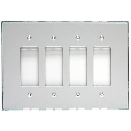 Glassalike Quad Decora Acrylic Mirror Switch Plate Mirrored
