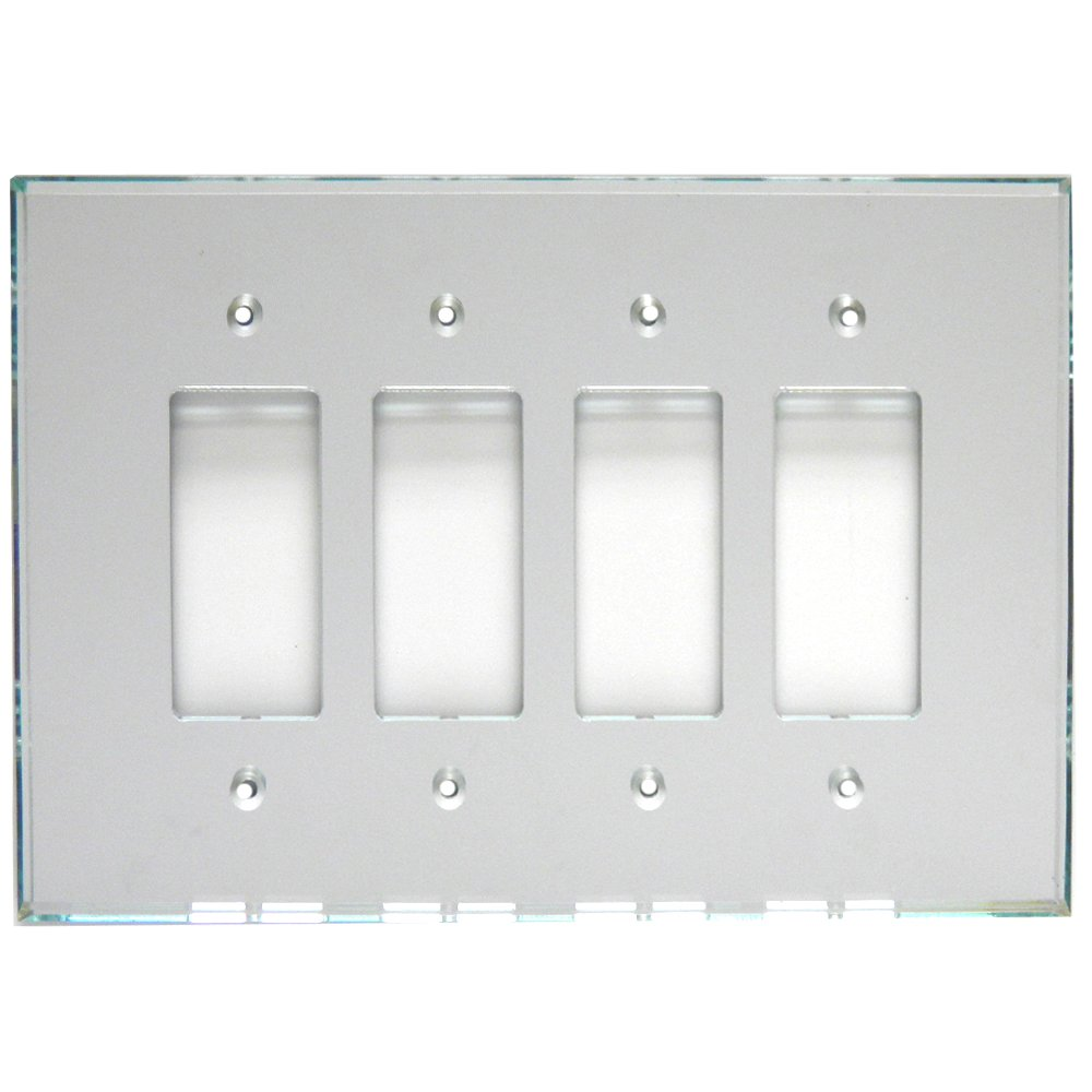 GlassAlike® Quad Decora Acrylic Mirror Switch Plate