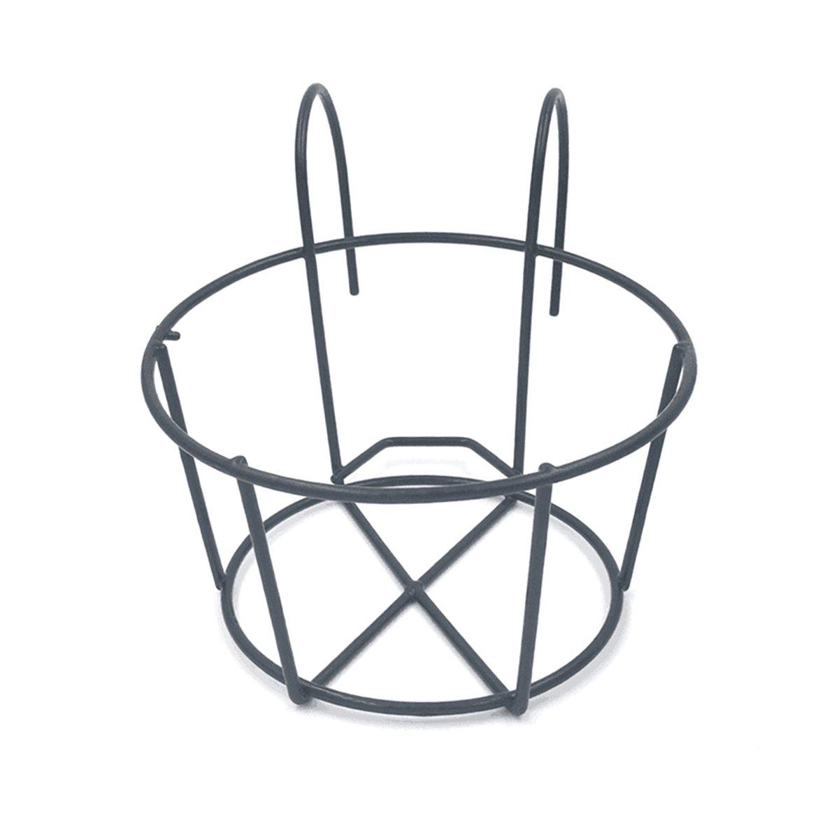 Negro ounona barandilla de hierro soporte de macetas Distressed Flores Planta estante estantes para casa jard/ín Balc/ón decoraci/ón/ /Tama/ño L