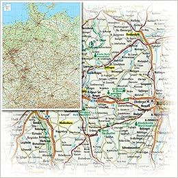 Bacher Miniposter Strassenkarte Deutschland Massstab 1 1 400 000