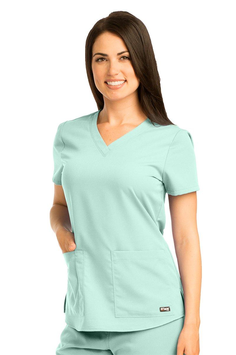 Grey's Anatomy 71166 V-Neck Top Aqua Mist M